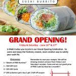 U Maki Sushi Burrito Grand Opening