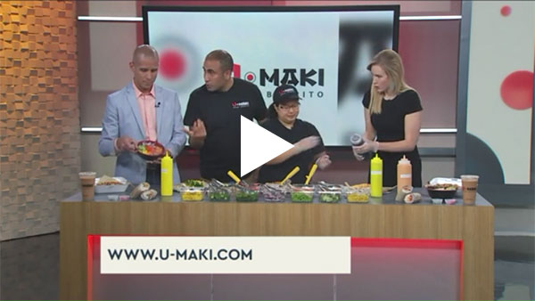 U'Maki Sushi Burrito featured on CW39